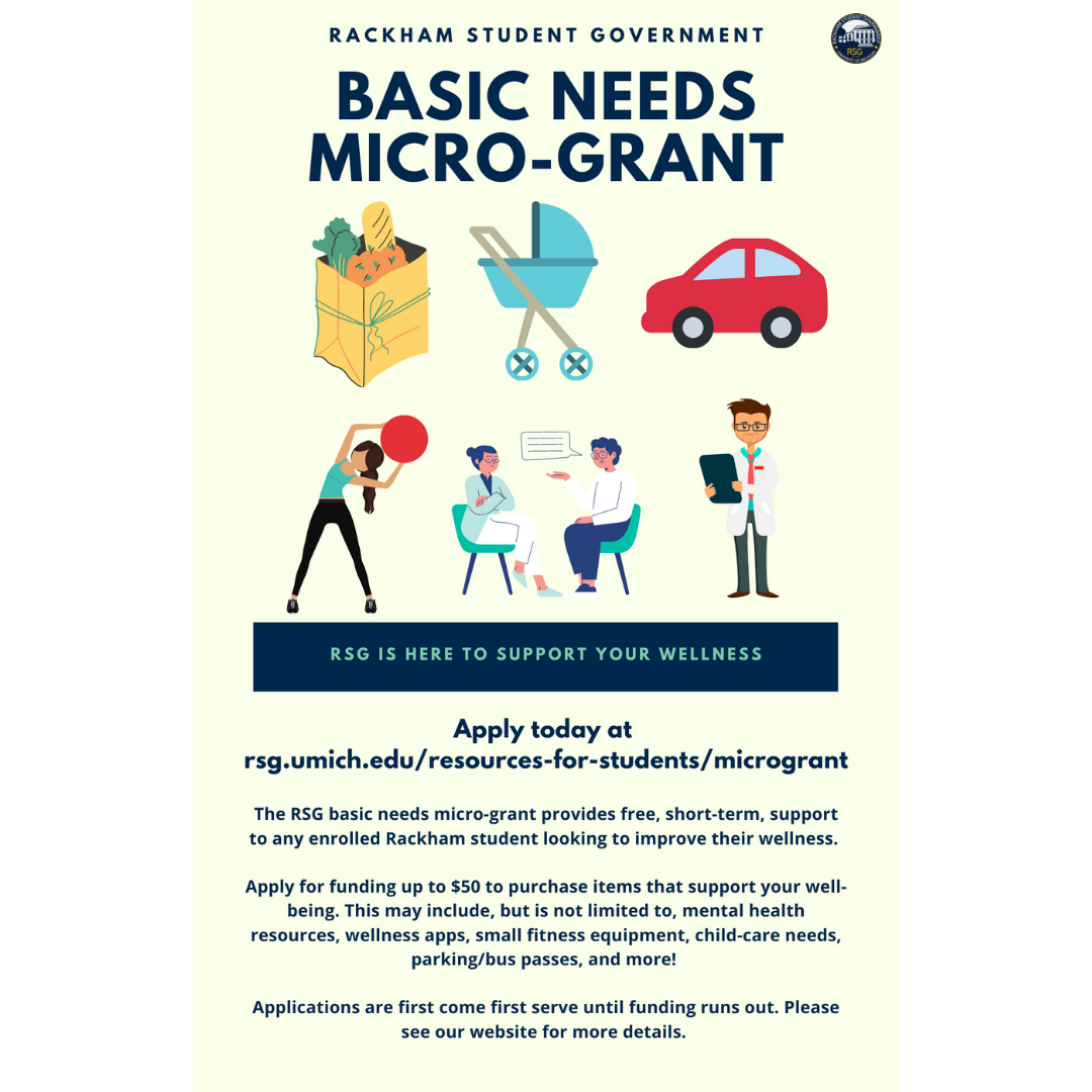 RSG Basic Needs Micro-Grant. RSG is here to support your wellness! Apply today!